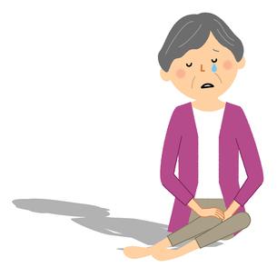 孤独な高齢者 シニア女性のイラスト素材 [FYI04105806]