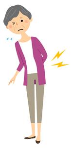 シニア女性 腰痛のイラスト素材 [FYI04105811]
