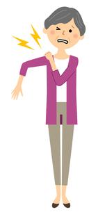 シニア女性 肩の痛みのイラスト素材 [FYI04105817]