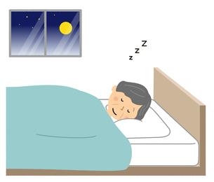 シニア女性 熟睡のイラスト素材 [FYI04105846]