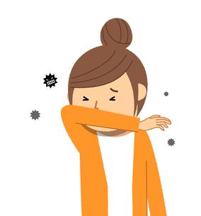 若い女性 風邪 インフルエンザのイラスト素材 [FYI04105865]