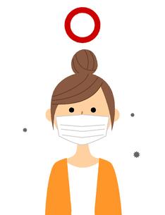若い女性 風邪 インフルエンザのイラスト素材 [FYI04105869]