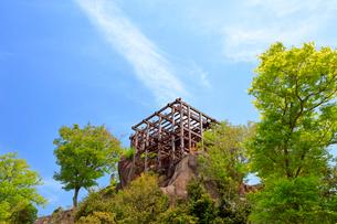 新緑の苗木城の写真素材 [FYI04105919]