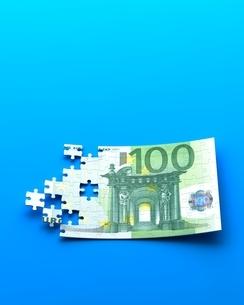 ユーロ紙幣のパズルのイラスト素材 [FYI04106065]