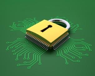 データを守る錠前のイラスト素材 [FYI04106066]