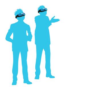 VR体験バーチャルリアリティ仮想現実イメージイラストのイラスト素材 [FYI04106135]