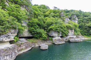 福島県 大川羽鳥県立公園 塔のへつりの写真素材 [FYI04106354]