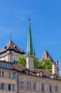 スイス、ジュネーブ旧市街、サン・ピエール大聖堂の写真素材 [FYI04106520]
