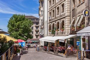 スイス、ジュネーブ旧市街の写真素材 [FYI04106532]