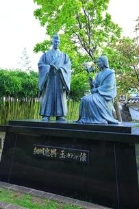 勝竜寺城公園 細川忠興・玉(ガラシャ)像の写真素材 [FYI04106569]
