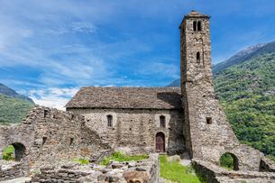 スイス、ジョルニコ、サンタマリア・デル・カステロの写真素材 [FYI04106719]
