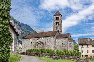スイス、ジョルニコの街並みの写真素材 [FYI04106746]