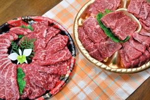 焼肉用の牛肉の写真素材 [FYI04106875]