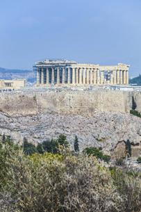 フィロパポスの丘よりパルテノン神殿を見るの写真素材 [FYI04107224]