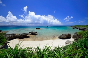 琉球列島宮古の海の写真素材 [FYI04107837]