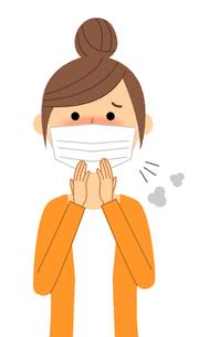 若い女性 風邪 インフルエンザのイラスト素材 [FYI04107906]