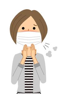 若い女性 風邪 インフルエンザのイラスト素材 [FYI04107909]