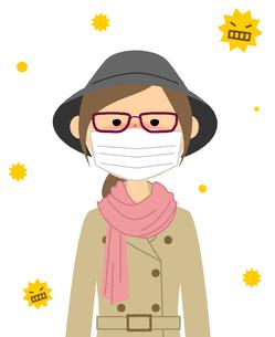 若い女性 花粉症 アレルギーのイラスト素材 [FYI04107913]