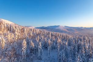 美しい冬の大雪山 旭岳の風景の写真素材 [FYI04108416]