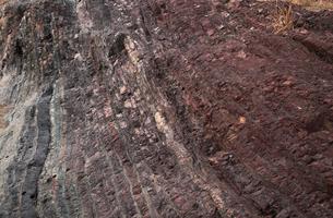 【地学教材用】 木曽川の古生代と中生代の境界を示す地層(スケールなし)の写真素材 [FYI04108534]