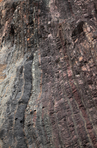 【地学教材用】 木曽川の古生代と中生代の境界を示す地層(スケールなし)の写真素材 [FYI04108537]