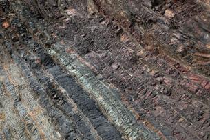 【地学教材用】 木曽川の古生代と中生代の境界を示す地層(スケールなし)の写真素材 [FYI04108540]
