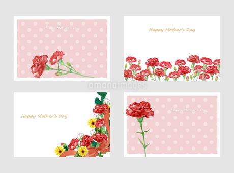 母の日カードセットのイラスト素材 [FYI04108582]