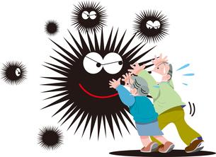 新型ウイルス感染の流行のイラスト素材 [FYI04108853]