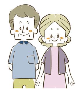 夫婦-シニア-男女のイラスト素材 [FYI04109451]