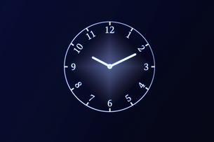 アラビア数字の時計の写真素材 [FYI04109591]