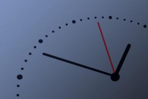 略字の時計の写真素材 [FYI04109593]