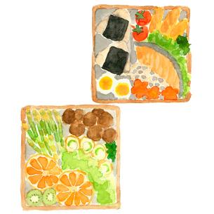 お弁当セットのイラスト素材 [FYI04109641]