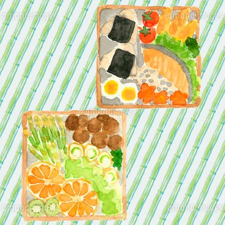 水彩 お弁当セットのイラスト素材 [FYI04109642]