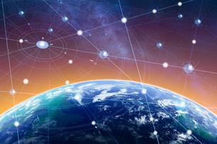 5G-第5世代移動通信システムと地球のイラスト素材 [FYI04109994]