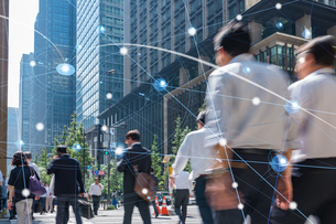 5G-第5世代移動通信システムと東京の写真素材 [FYI04110010]