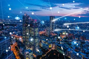 5G-第5世代移動通信システムと東京の写真素材 [FYI04110049]