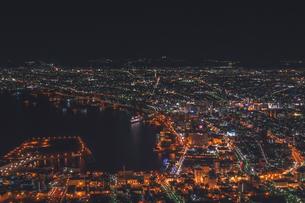函館夜景・春の写真素材 [FYI04110105]