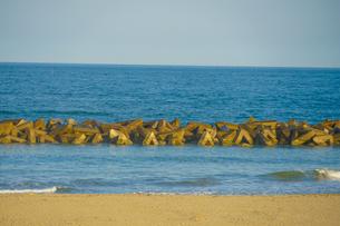 荒浜海岸の砂浜(宮城県仙台市)の写真素材 [FYI04110214]