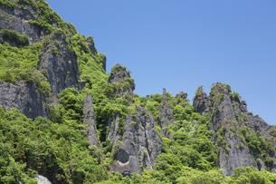 新緑の妙義山の写真素材 [FYI04110303]