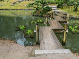 【香川県 高松市】栗林公園の中にある津筏梁と睡竜譚の写真素材 [FYI04110625]