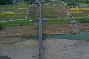 茨城県那珂川の空撮の写真素材 [FYI04110809]