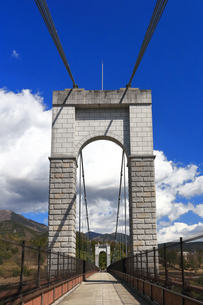 県立秦野戸川公園 風の吊り橋の写真素材 [FYI04111265]