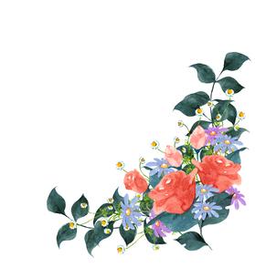 バラと花のブーケのイラスト素材 [FYI04111287]