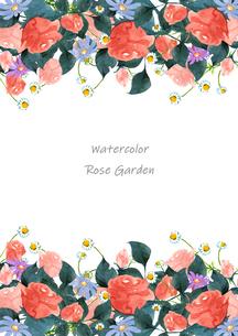 薔薇と花のフレームのイラスト素材 [FYI04111288]