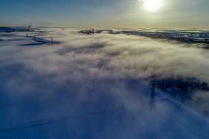 気嵐の空撮の写真素材 [FYI04111497]