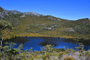 タスマニア州のクレイドルマウンテン国立公園のリラ湖の写真素材 [FYI04111596]