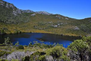 タスマニア州のクレイドルマウンテン国立公園のリラ湖の写真素材 [FYI04111597]