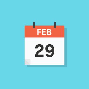 カレンダーの2月29日アイコンのイラスト素材 [FYI04111999]