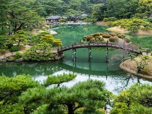 【香川県 高松市】飛来峰からみる栗林公園の様子の写真素材 [FYI04112654]