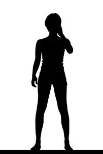 スリムな日本人女性のシルエットの写真素材 [FYI04112868]